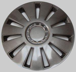 """Tapacubos Tapacubos tapacubos Silverstone Pro gris oscuro 15"""" Pulgadas 4 Kit, Opel Audi"""