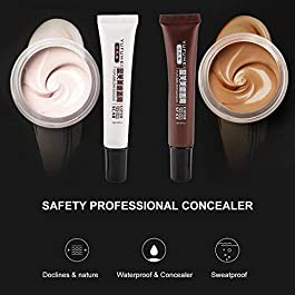 Concealer To Cover Tattoo/Scar / Birthmarks/Vitiligo, Professional Waterproof Tattoos Cover Up Makeup Concealer Set, Dark Spots Concealer Kit (2 Pcs)