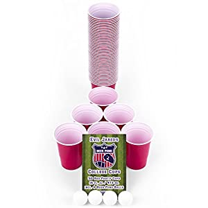 EVIL JAREDs College Cups | 50 Rote Becher (480ml) + 4 Ping Pong Bälle für...