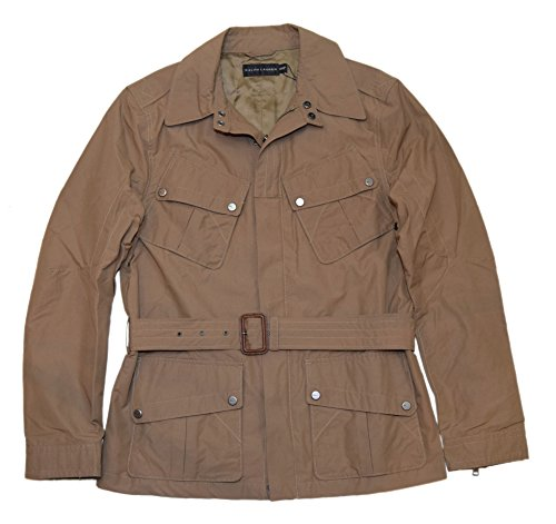 Jacket Ralph Lauren Black Label - Polo Ralph Lauren Black Label Mens Belted Jacket Car Coat Khaki Tan Brown Medium