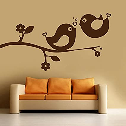 f7b186899ac Buy DECOR Kafe Home Decor Love Bird Sparrow Wall Sticker