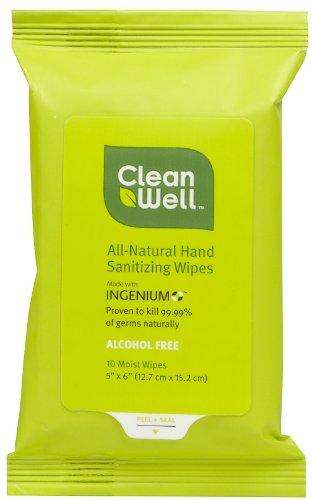 Hand Santz Wipes, Travel, 10 ct ( Value Bulk Multi-pack) by CLNWEL