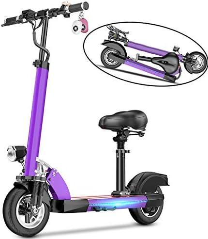 電動スクーター大人、500W、携帯電話用USB充電器、高さ調節可能、LCDディスプレイ、固定速度クルーズ、50KMロングレンジ、3スピード、折りたたみ式Eスクーター、シート付き、200KG重量をサポート