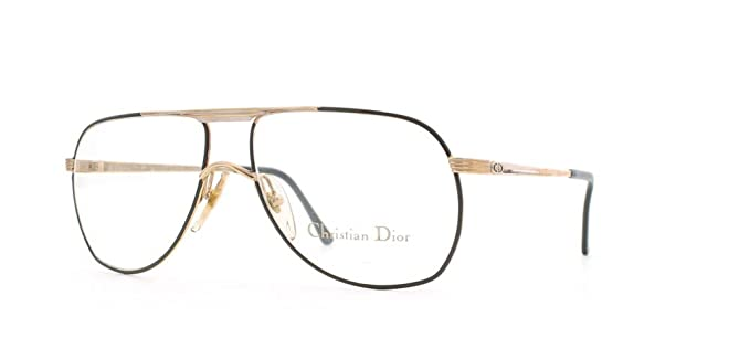 9feeda5d26924 Christian Dior 2553 42 Black Certified Vintage Aviator Eyeglasses Frame For  Mens and Womens  Amazon.co.uk  Clothing