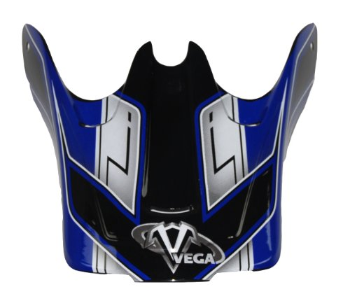 Vega Junior Off-Road Helmet Visor with Viper Graphic (Blue)