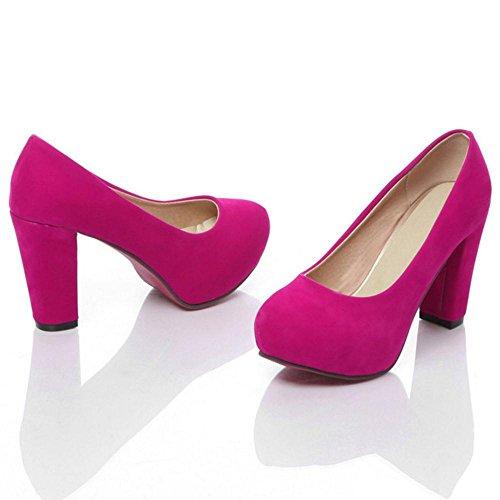 Mujer Zapatos Para Cherry Ancho de Red Coolcept Tacon TRnwWxxO