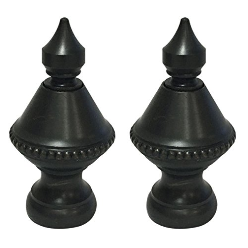 Pointed Finial - Royal Designs Pointed Urn Lamp Finial for Lamp Shade - Oil Rub Bronze - Set of 2