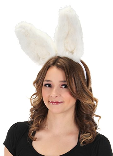 elope Bendy Bunny Plush, Adjustable Ears Headband White