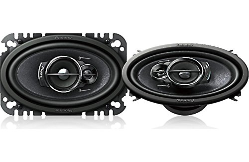 """Pioneer 4"""" x 6"""" 200 Watts Max 3-Way A-Series Car Audio Coaxial Speakers with Carbon and Mica Reinforced IMPP Woofer / Free Alphasonik Earbuds"""