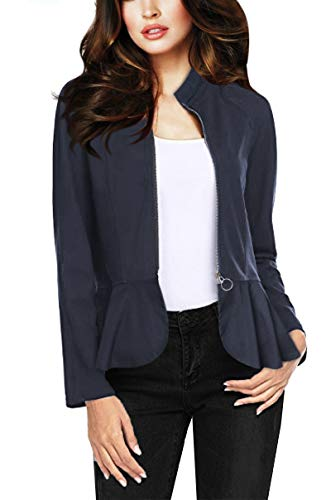 Women's Millennium Zip up Blazer Jacket KJK1137 1012 Denim XL