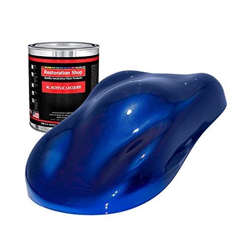Restoration Shop - Quart ONLY - Sapphire Blue Metallic Acrylic Lacquer Single Stage Car Auto Paint ()