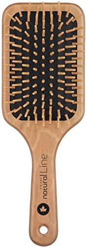 Natur-Haar-Bürste Holz Fripac-Medis Natural Line Paddle-Brush, 9-reihig, zum täglichen Durchkämmen und Entwirren der…
