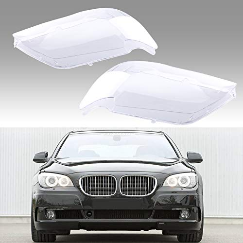 Areyourshop Pair Headlight Glass Headlamp Lens Cover L&R For 7 E65 / E66 LCI 2005-2008