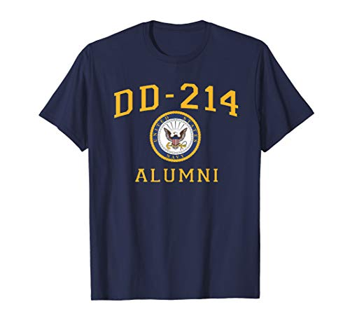 US Navy Dad Shirt DD214 Alumni T Shirt for a Retired Hero