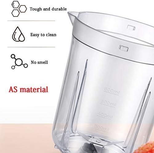 Smoothie Blender, Personal Blender, Met 4-Leaf roestvrij staal Head, AS Materiaal Cup, 600 ml, One Touch Button, Mute Noise Reduction, gemakkelijk schoon te maken, 250W
