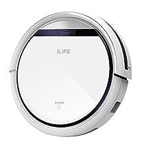ILIFE V3s Pro Robot Aspirapolvere, Programmabile e Ricarica Automatica, Adatto per Pavimenti Duri e Tappeti, Bianco