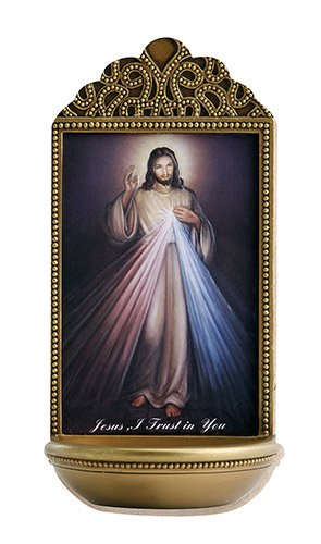 Jesus Divine Mercy Holy Water Font - Marco Sevelli - ()