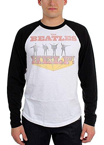 Beatles 'Help!' Long Sleeve Raglan Baseball Jersey Shirt (Large)