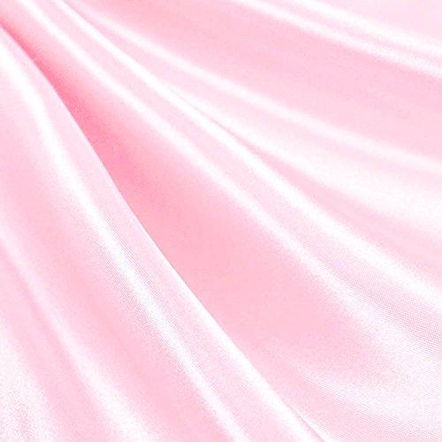 (Pink Satin Fabric 60