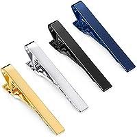 Jstyle 4 Pcs Tie Clips for Men Tie Bar Clip Set for Regular Ties Necktie Wedding Business Clips
