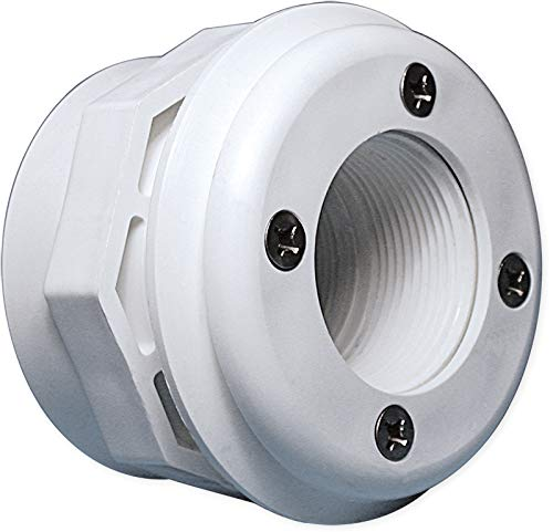 Waterway Plastics 400-9160B Vinyl In-Ground Steel Wall Swimming Pool Return Inlet Jet Fitting with Gasket and Screws