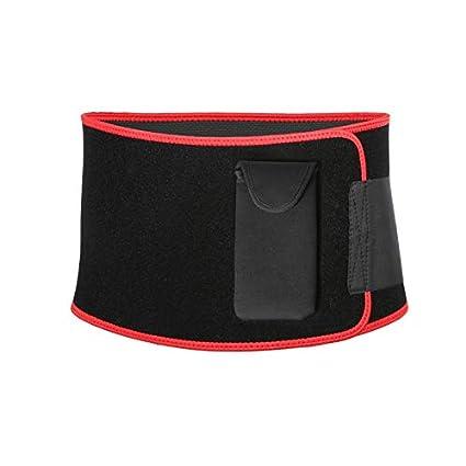 97c6b321b2d Buy LKITZZ Black  New black slimming belt portable phone bag sport yoga  fitness waist back support belt super nylon hasp fajas neopreno cinto  Online at Low ...