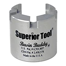 Superior Tool 03825 Basin Buddy Faucet Nut Wrench, Wrench to Grab Metal, PVC, Plastic, and Coupling Nuts