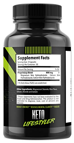 Keto Diet Pills Appetite Suppressant Supplement - Exogenous Ketones Ketogenic Diet Pills - Boosts Metabolism and Supplies Energy- 60 Capsules by Keto Lifestyler (Image #5)