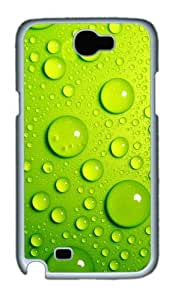 3D The Blister Green Crystal Clear Blisters Custom Designer Samsung Galaxy Note 2/Note II / N7100 Case Cover - Polycarbonate - White