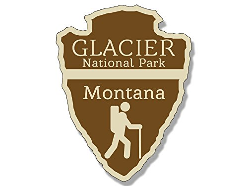American Vinyl Arrowhead Shaped Glacier National Park Sticker (rv Hiking Camping) (Best Rv Size For National Parks)