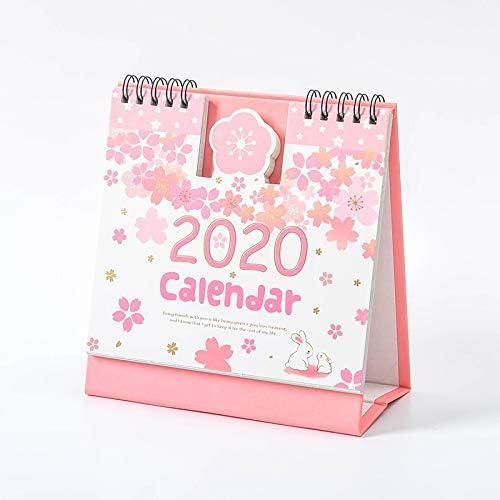 2019-2020 Nette kreative Karikatur-Tier Katze 3D Desktop Papier Kalender Dual Täglich Scheduler Tabelle Planner Jahr Agenda Organizer (Color : 2)
