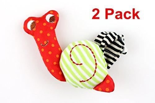 Snail Rattle - Excelity® Baby Bell Snail Wrist Belt Early Development Toy, 2 Pack