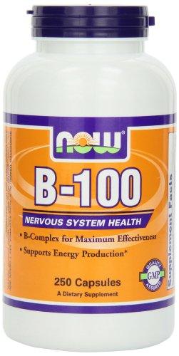 NOW Foods B-100, 250 Capsules