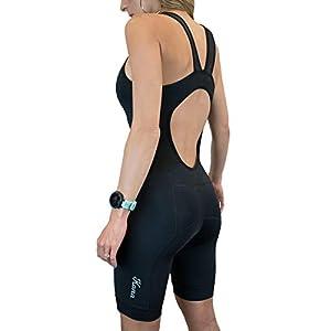 Kona Women's Triathlon Race Suit – Speedsuit Skinsuit Trisuit Sleeveless – One-Piece Vest and Short Combo with Body…