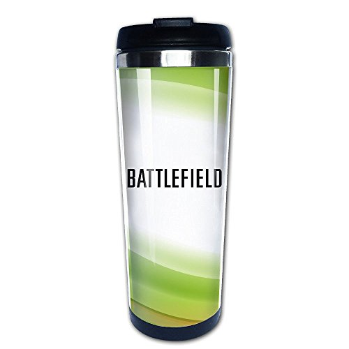 Beaufiy Battlefield Logo Stainless Steel Travel Tumbler Coffee Mug Black (Uk Gift Sets Starbucks)