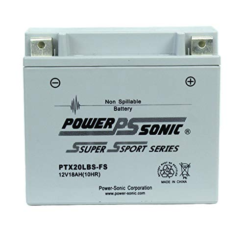 Power Sonic PTX20LBS-FS 12V 18AH Replaces Kawasaki KZ1000-E ST Shaft 79-80