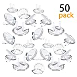 Outlet Plug Covers (50 Pack) Ultra Clear Child Proof Electrical Protector Safety Caps Electrical Socket Covers By Jackshadow