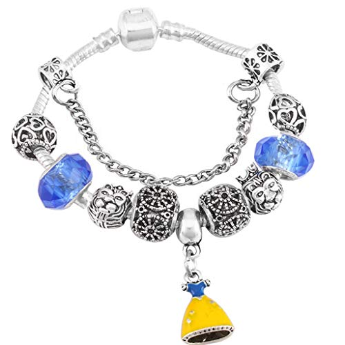 Antique White Blue Murano Crystal - Gift for Girlfriend Catoon Design Antique Silver plated Appeal Bracelet for Child Murano Cup Beads Fine Bracelets with regard to Child DIY Jewelry Design