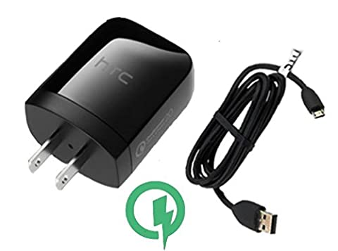 Rapid Charger (Quick Charge 2.0) LAVA Iris X8 Smartphone will Charge up in a blink, up to 60% faster than conventional chargers! [3ft Cable, 15W Dual (Htc X8 Mobile)
