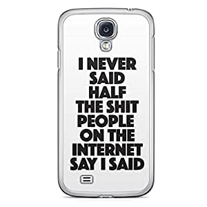 Funny Samsung Galaxy S4 Transparent Edge Case - Dont Judge a Phone