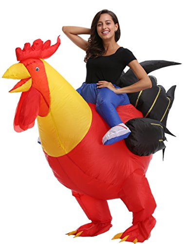 Perfect Corset Adult Inflatable Blowup Halloween Costumes Fancy Dress Outfits, Rooster