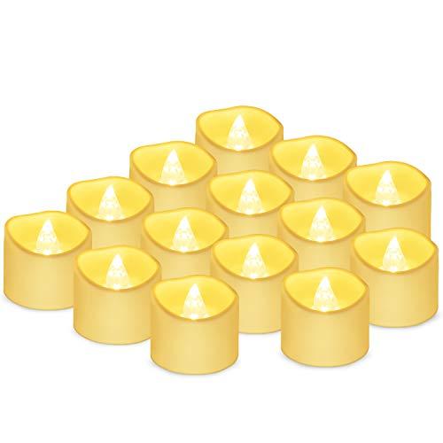 Velas LED Sin Fuego 14 Pack ,Velas LED que parpadean amarillas para hogar festivales decoracion, bodas y fiestas