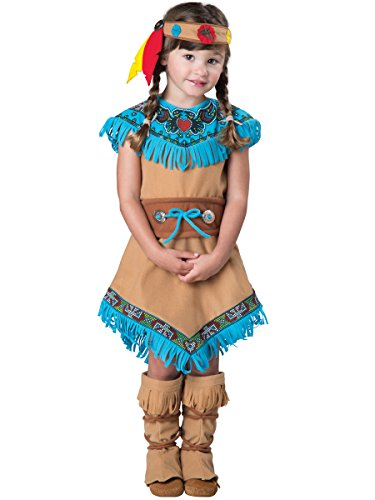 [InCharacter Costumes Women's Indian Girl Costume,Tan,3T] (Toddler Indian Costumes)