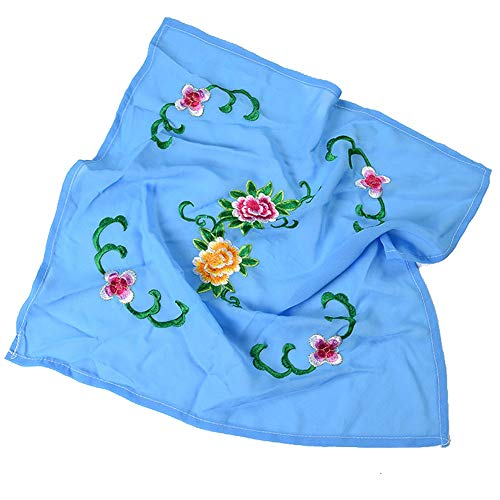 Embroidery Chinese Handkerchiefs (Dance handkerchief Embroidered Handkerchief Cheongsam Accessories [H])
