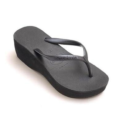 e95ffad8ace584 Havaianas 2.4 quot  Hoher Keilabsatz Riemen Schwarz Flip Flops Damen  Modische Sandale EU UK Größe -