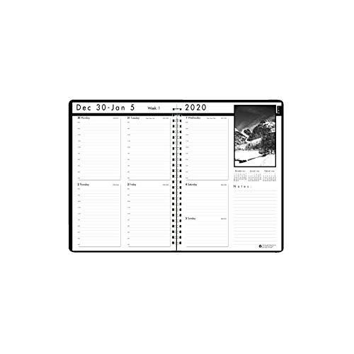 House of Doolittle 2020 Weekly Calendar Planner, Black on White Series, 8.5 x 11 Inches, January - December (HOD217102-20)