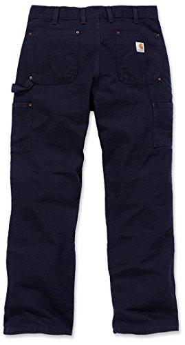 Scuro Di Da Pantaloni Anatra 30 Carhartt Eb136 30 Lavoro Dunkelblau Blu Dungaree Formato Lavoro Lavati Workwear S81awnq6