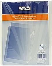 واقي ورق بلاستيك A4 من ديجيتال - شفاف - 50 قطعة