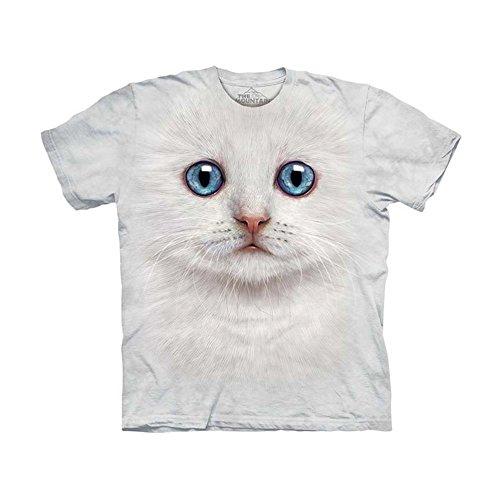 The Mountain Kids Ivory Kitten Face T-Shirt, Medium, Ivory - Kitten Face