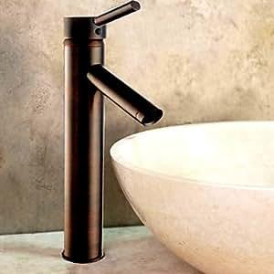 quan Oil Rubbed Bronze Bathroom Sink Faucet (Tall)